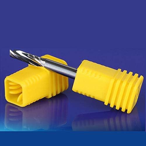 NO LOGO 1pc 3.175 Shank einwellige Fräser zum Polieren von Aluminium-Wolframstahl CNC-Stich-Werkzeug Fräser for Aluminium (Größe : 3.175x3.175x8)