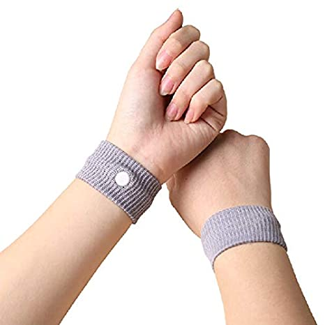 KTM Healthcare Pack of 2 Travel Morning Sickness Wrist Band Anti Nausea Car Van Sea Plane Wristband Anti-motion Sickness Bracelet Strap Boats
