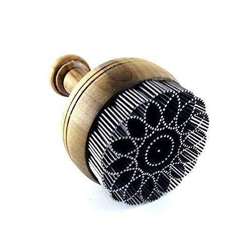 Unusual baking tools, Uzbek bread stamp for round bread Non Lepeshka 6 cm diameter + BONUS