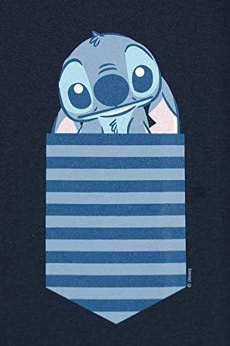 Lilo and Stitch New Pocket Stitch Frauen T-Shirt Navy Disney, Fan-Merch, Film: Odzież