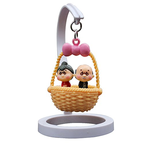 Creative Cute Car Dashboard Decorations Cradle Bobblehead Dolls Car Office Ornaments (old couple)