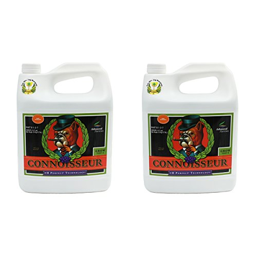 Advanced Nutrients Connoisseur Part - Advanced Nutrients 1680-15AB pH Perfect Connoisseur Grow Part A+B, 4 Liter, Brown/A
