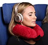 Inflatable Neck Pillow for Flying, Sleep Upright in Airplanes, Chin Support, Neck Support in Airplane, Soft, Compact, Convenient for Travel, U Shaped