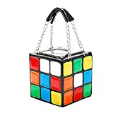 FTSUCQ Womens/Girls Leather Magic Cube Totes Shoulder Bags Shell Flap Handbags Hobos