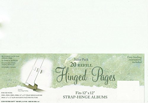 Westrim Crafts 20 Refill Hinged Pages - Westrim Value Pack