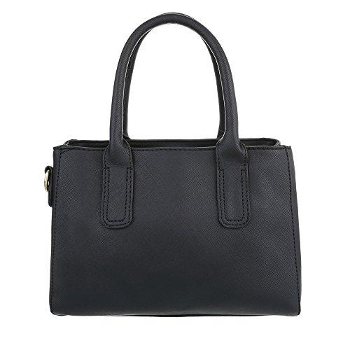 Schuhcity24 Taschen Handtasche Modell Nr.1 Schwarz
