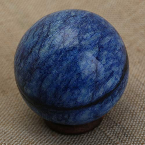 Natural Crystal Sodalite Crystal Ball Reiki Gemstone Sphere Ball for Healing and Meditation 45-50 MM ()