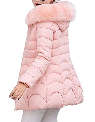 Di Cotone Againg Outwear Slim Con In Anoraks Pelliccia Imbottitura Giacca Albicocca Imbottita BxXx8Sq4w