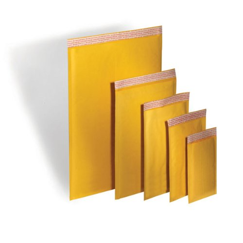 TheBoxery Kraft Bubble Mailers #5 10.5x16'' 100 Mailers Included - Self Sealing