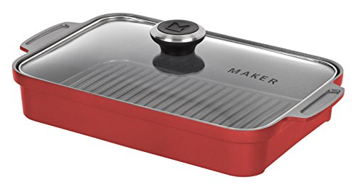 MAKER Homeware Rectangular Steam Grill Pan