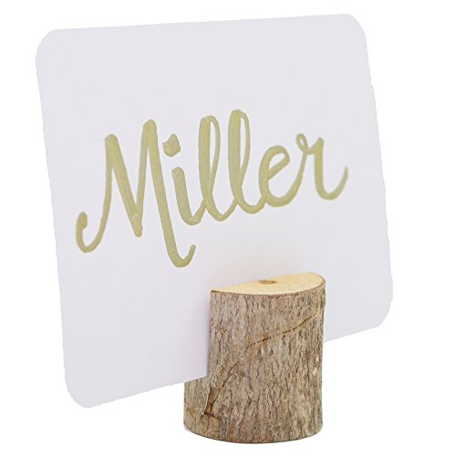 Happy Magnolia 12 Pack Wooden Place Card Holders With Bonus 12 Place Cards For Wedding Home Business Birthday Party Decorations Table Numbers Made From All Natural Hardwood by Happy Magnolia (Image #3)