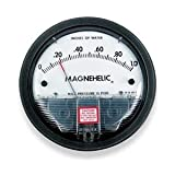 """Dwyer 2000-0 Magnehelic Differential Pressure Gauge, 2000: 0-0.5"""" WC"""