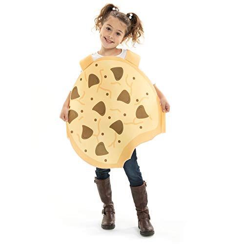 Crumbly Cookie Children's Halloween Costume - Funny Food Kids Outfit (Youth Medium (5-6)) Brown
