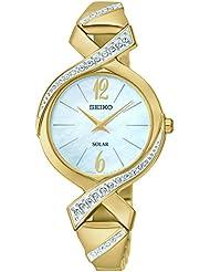 Seiko Womens SUP266 Analog Display Analog Quartz Gold Watch