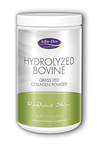 Life-Flo - Polvo de colágeno alimentado con pasto de bovino hidrolizado no aromatizado -