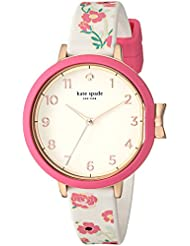 kate spade new york Womens Park Row Quartz Stainless Steel and Silicone Casual Watch, Color White (Model: KSW1411)