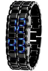 7 Weapons Fashion Creative LED Waterproof Men's Watch#black
