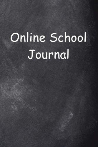 Online School Journal Chalkboard Design   Notebook  Diary  Blank Book   School Journals Notebooks Diaries