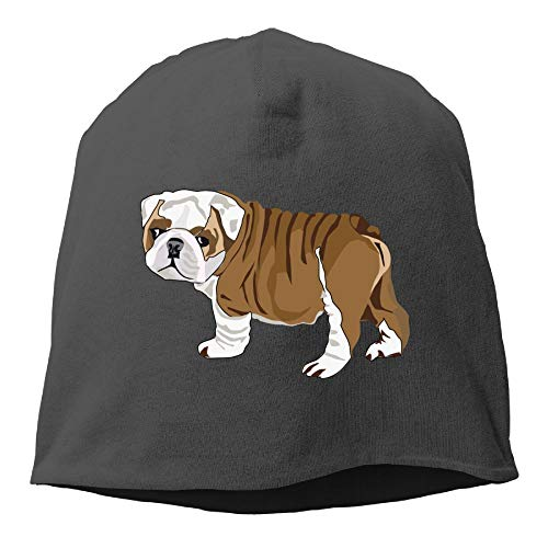 (Arsmt Skull Beanie Hat Bulldog Puppy Men's Warm Winter Cuff Watch Cap Classic )