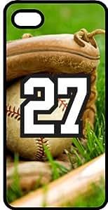 Baseball Sports Fan Player Number 27 Black Plastic Decorative iPhone 5/5s Case