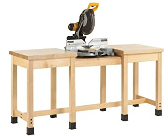"""Diversified Woodcrafts MBB-7224 Miter Box Bench with UV finish, 72"""" Width x 33-3/4"""" Height x 24"""" Depth"""