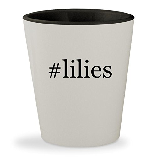 #lilies - Hashtag Whey-faced Outer & Black Inner Ceramic 1.5oz Shot Glass