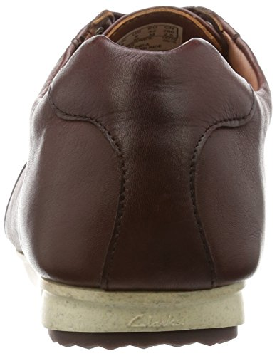 Clarks Elegante Casual Hombre Zapatos Triturn Race En Piel Marrón Tamaño 39½
