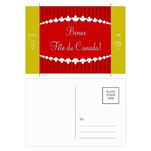 - Maple Leaf Happy Canada Day 4th Of July Friend Postcard Set Thanks Card Mailing Side 20pcs