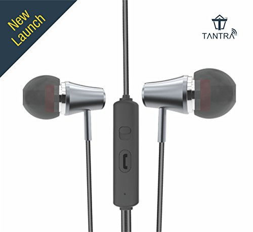 Tantra Trumpet T-600 Premium Wired Super Bass In-ear Earphones with Mic – Metal Grey