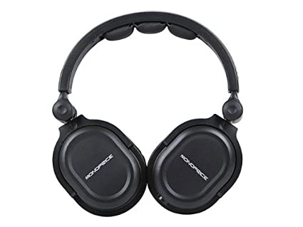 196bec8d2ab Monoprice Premium Hi-Fi DJ Style Over Ear Pro Headphone: Amazon.co.uk:  Electronics