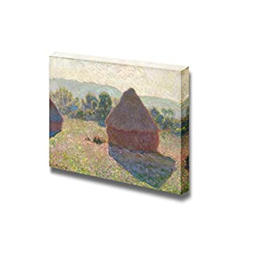 Haystacks,Midday by Claude Monet - Canvas Print Wall Art Famous Painting Reproduction - 12