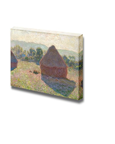 Haystacks Midday by Claude Monet Print Famous Painting Reproduction