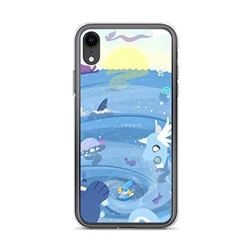 iPhone XR Pure Clear Case Cases Cover Whirlpool - Cute Aquatic Animals TPU Hard PC Compatible Solid Durable Polycarbonate Back Shell