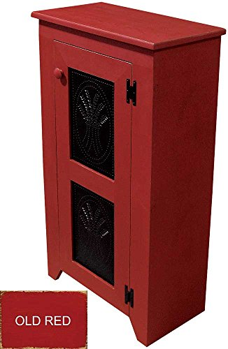 Punched Tin Cabinet (Old Red) (Pie Safe)