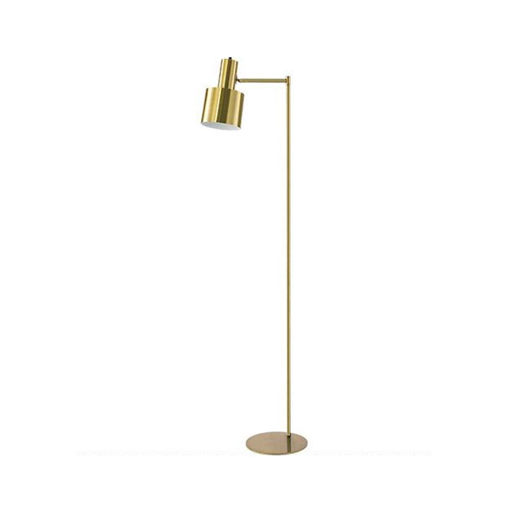 HTTDIAN 北欧の金属フロアランプ▏クリエイティブなパーソナリティ研究垂直テーブルランプ▏モダンミニマム寝室の装飾ベッドサイドランプ (色 : ゴールド) B07L5DLCMV ゴールド