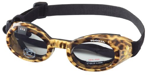 Doggles Stylish Portable Dog UV Protection sunglassIls Extra Small Leopard / Smoke Lens by Doggles