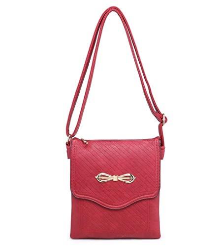 Moontang Borsa a tracolla a tracolla a tracolla a tracolla per borsa da viaggio (Colore : Nero, Dimensione : -) Rosso