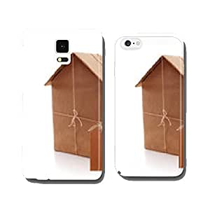 New house wrapped in brown paper cell phone cover case iPhone5