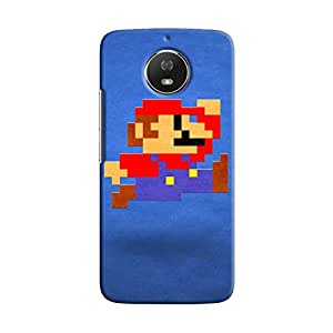 Cover It Up - Mario Pixelated Blue Moto G5s Hard Case