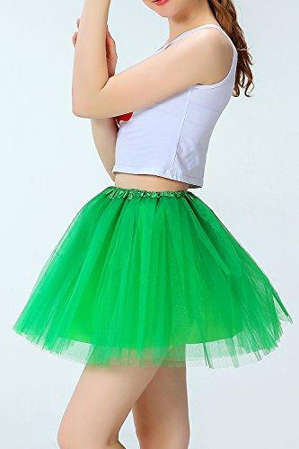 Tulle Green De Ballet lastique Tutu Classique Groupe Femmes Jupe 8HXvXR