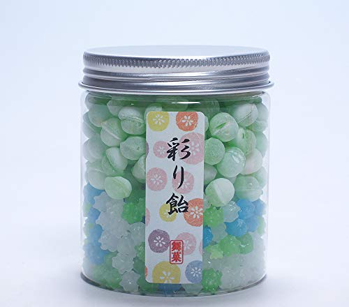 Crystal series KONPEITO & Soda candy 2 layers Japanese Candy with Bottle Container (Ajisai & Melon soda) (Japanese Soda Melon)