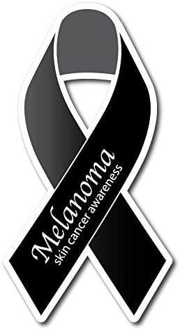 Amazon Com Melanoma Skin Cancer Ribbon Sticker Decal Set Everything Else