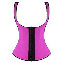 Camellias Women's 3 Hook Long Deportiva Latex Vest Waist Training Body Shaper