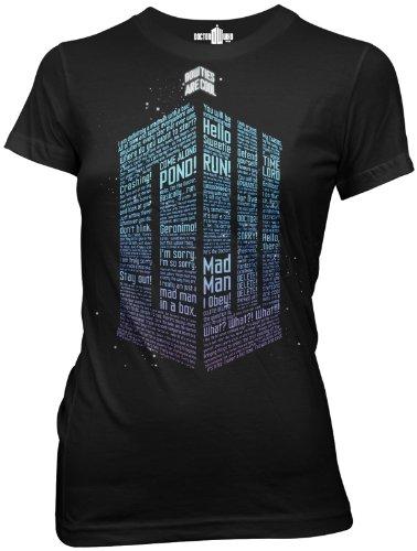 Ripple Junction Doctor Who Logo of Words Juniors T-shirt