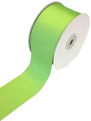 (Ship From USA) Creative Ideas Solid 2-Inch Grosgrain Ribbon, 25 Yard, Apple Green / 2 inch wide by 25 yards,100percent polyester,Creative Ideas item Number GRO2000-556,Ideal for hair bows, crafts, G