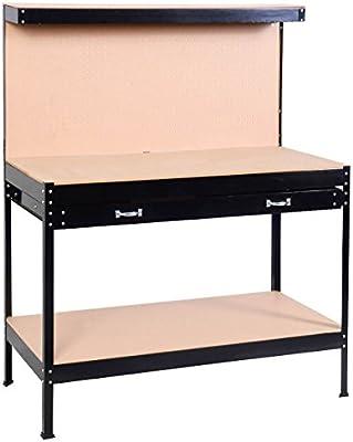 PROGEN - Banco de trabajo para taller, caja de almacenamiento ...
