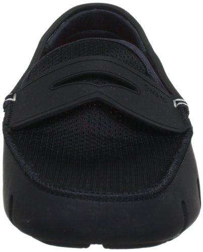 Swims Mens Penny Loafer - Mocasines de caucho para hombre, color negro, talla 43