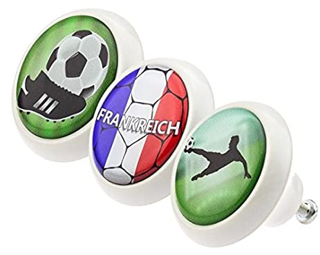 Ceramic Knobs Assorted Set 0155 Soccer Football France 3pcs with ...