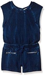 Splendid Little Girls\' Toddler  Indigo Short Sleeve Romper, 2T