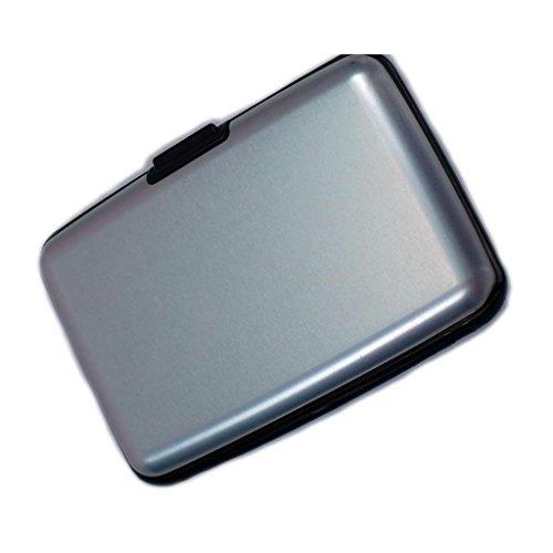 Wallet SALE! RFID Blocking Aluminum Wallet Men Women Credit Card Case SWISS STYLING-Silver